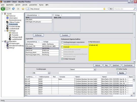 Billing Software - Dokumentenzuordnung
